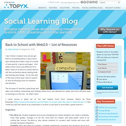 Back to School with Web2.0 - List of Resources - Interactyx
