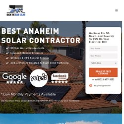 Back The Blue Solar: Best Anaheim Solar Company