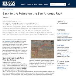 Back to the Future on the San Andreas Fault