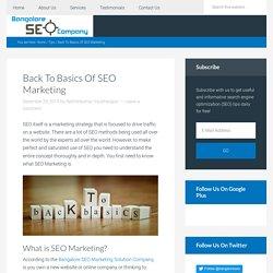Back To Basics Of SEO Marketing