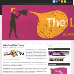 Back to School Part 4: Planning - David Didau: The Learning Spy