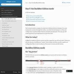 Day 5: the BackBee Edition mode - BlogBee tutorial