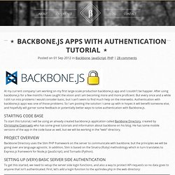 Backbone.js apps with Authentication Tutorial