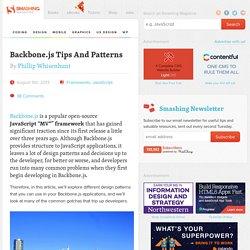 Backbone.js Tips And Patterns