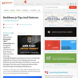 Backbone.js Tips And Patterns
