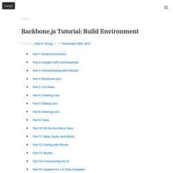 Build Environment