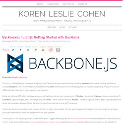 Backbone.js Tutorial: Getting Started with Backbone