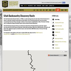Utah Backcountry Discovery Route