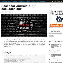 Backdoor Android APK: backdoor-apk
