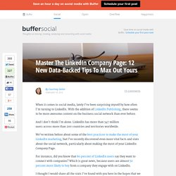 12 Data-Backed Tips About The LinkedIn Company Page