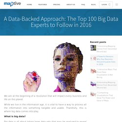 A Data-Backed Aproach: The Top 100 Big Data Experts to Follow