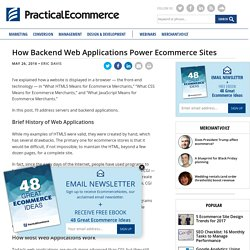How Backend Web Applications Power Ecommerce Sites