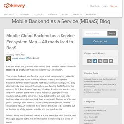 Mobile Cloud Backend as a Service Ecosystem Map – All roads lead to BaaS