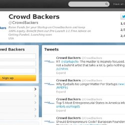 Crowd Backers (crowdbackers) on Twitter