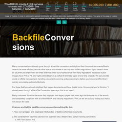 Get Backfile Conversion With Document Scanning