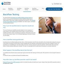 Backflow Testing in NJ