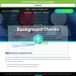 Background Data Quality and Accuracy with Accurate C&S Services, Inc
