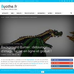 Background Burner : détourage d'image facile, en ligne et gratuit !