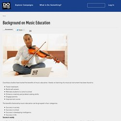 Background on Music Education