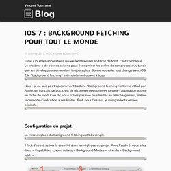 iOS 7 : background fetching pour tout le monde