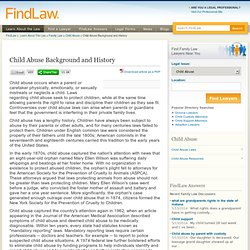 Child Abuse Background and History - FindLaw