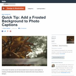 Add a Frosted Background to Photo Captions
