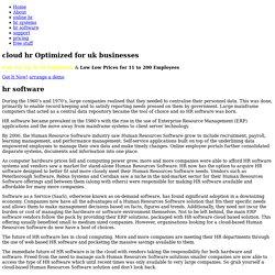 HR Software Background Information : OnDemand-HR