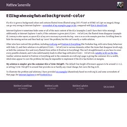 IE CSS bugs when using floats and <code>background-color</code> - Dracos.co.uk