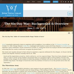 Background & Overview - Six-Day War