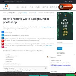 How To Remove White background In Photoshop Using 5 Diffreent Tools