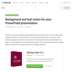 Background and text colors for your PowerPoint presentation