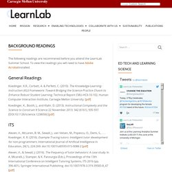 Background Readings – LearnLab