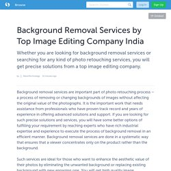 Background Removal Services by Top Image Editing Company India