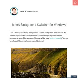 John's Background Switcher for Windows