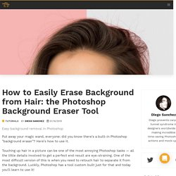 How to Easily Erase Background from Hair: the Photoshop Background Eraser Tool - WeGraphics