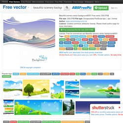 Beautiful scenery vector background0001 Free vector in Encapsulated PostScript eps ( .eps ) format format for free download 335.67KB