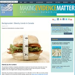 Backgrounder: Obesity trends in Canada