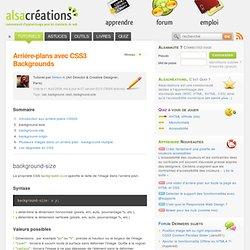 Arrière-plans avec CSS3 Backgrounds