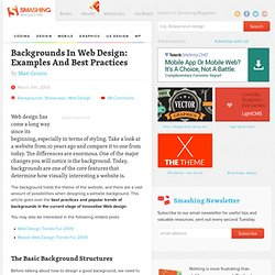 Backgrounds In Web Design: Examples And Best Practices - Smashing Magazine