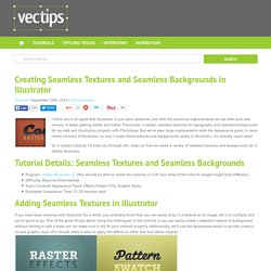 Creating Seamless Textures and Seamless Backgrounds in Illustrator - Vectips