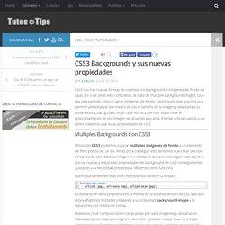 CSS3 Backgrounds y sus nuevas propiedades