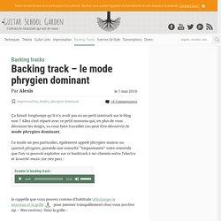 Backing track – le mode phrygien dominant
