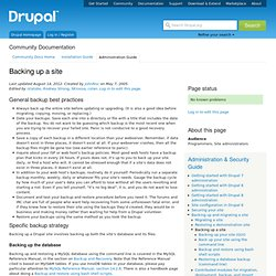 Back up your Drupal site