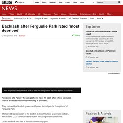 Backlash after Ferguslie Park rated 'most deprived'