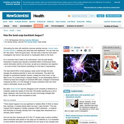 Has the brain-zap backlash begun? - health - 28 November 2014