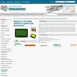 "MODULO LCD SERIE GRAFICO 128X64 CON BACKLIGHT (""DISPLAY"",""PC12864LRUJNNB"",""LCD-09351"",""LCD09351"",""LCD-0013"",""LCD0013"")"