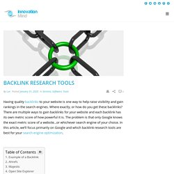 Backlink Research Tools