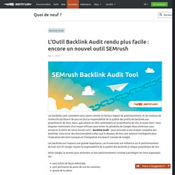 The Backlink Audit Tool Made Easy