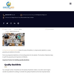 Important Factors For Building Quality Backlinks - digitalseovillage