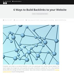 Effective Ways to Build Backlinks to Your Website